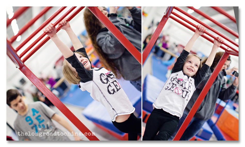 Sarah on the Red Monkey Bars Collage