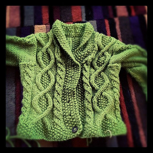Just needs the buttons... 2 years later... #febisforfinishing #knit #knitty #knitting