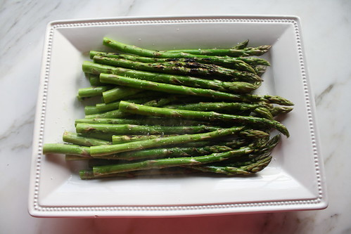 Grilled Asparagus with Broiled Mozzarella