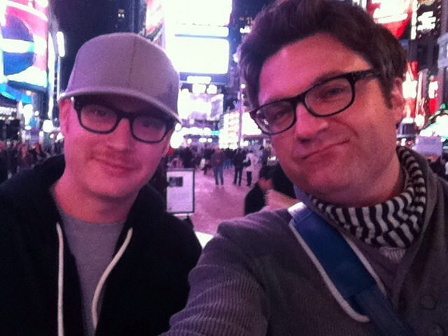 Me and Wonderly in Times Square