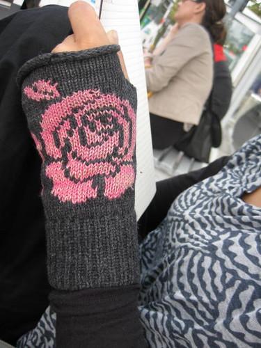 rose mitten backs