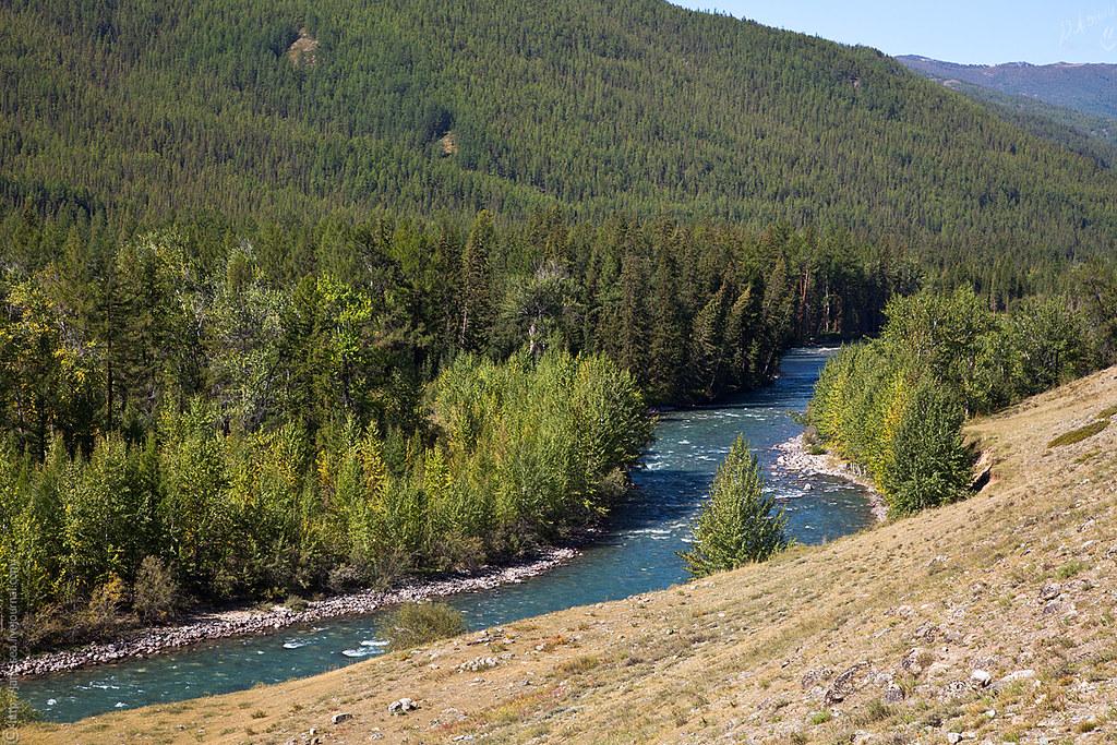 река Джазатор с дороги на село Джазатор (Беляши)