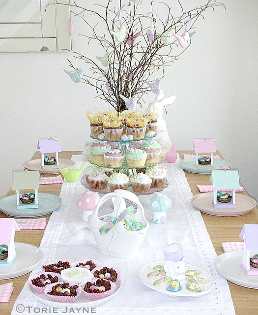 Easter table setting 2009!