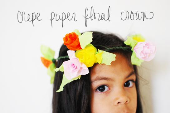 diy: crepe paper flower crown