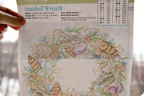 Seashell Wreath pattern
