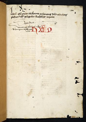 Monastic ownership inscription in Nider, Johannes: Sermones de tempore et de sanctis cum quadragesimali