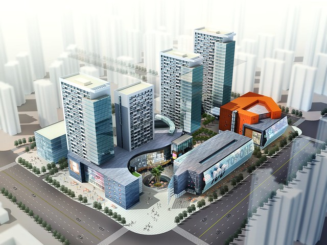 Tianjin North Canal Residential and Retail Architecture Design