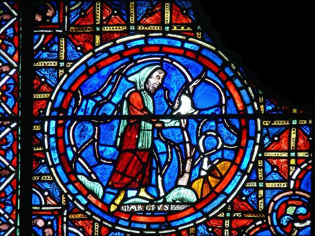 medieval stained glass zodiac