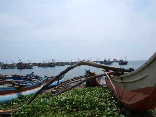 шри-ланка, рыбацкие лодки