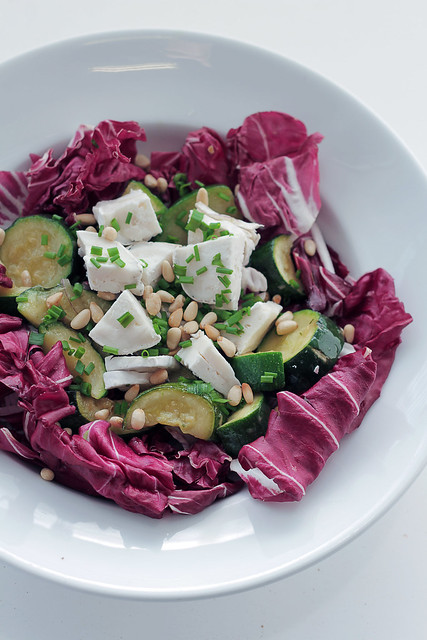 Goat Cheese, Courgettes and Radicchio
