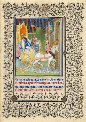 009-Heraclio y la Vera Cruz-Belles Heures of Jean de France duc de Berry-Folio 156r - ©The Metropolitan Museum of Art