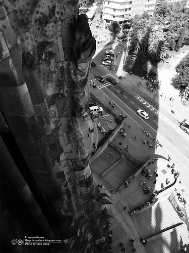 Hola Barcelona~巴塞隆納。聖家堂 Sagrada Familia 沙包重量構成的弧線  R1042695