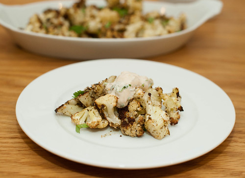 za'atar roasted cauliflower