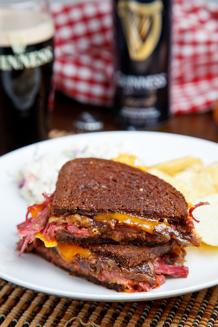 Corned Beef Grilled Cheese Sandwich With Guinness ...