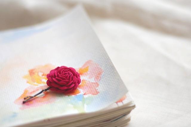watercolour doodle & flower