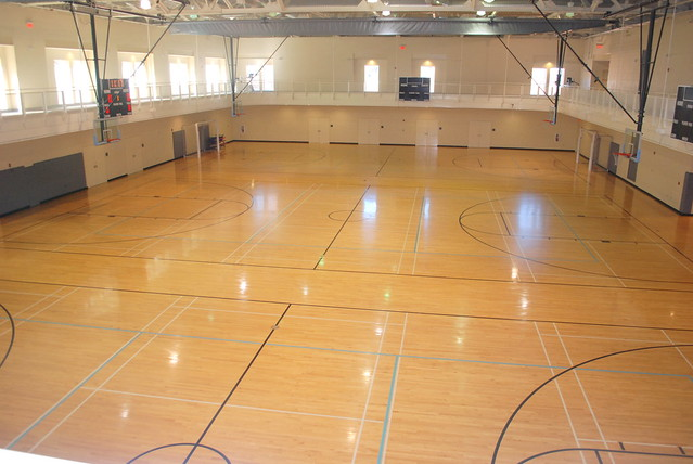 Rams head basketball courts and indoor track flickr for Indoor basketball court for sale