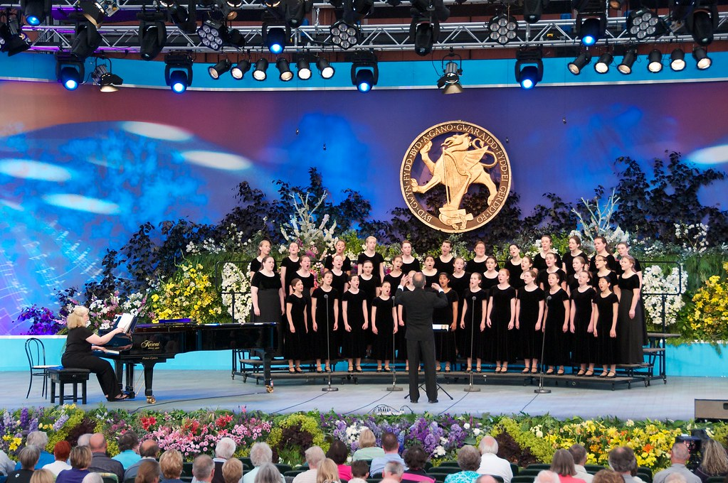 Columbia Choirs perform at the Llangollen International Eisteddfod in Wales