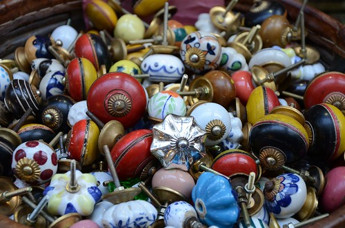 Knobs in a curio shop. Passage de Grande Cerf, Paris