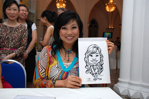 caricature live sketching for Intel Mobile Communications Year-End celebrations - 5