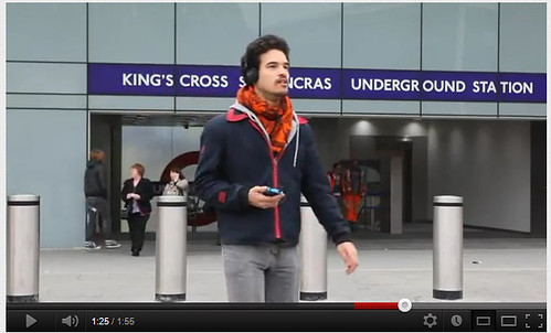 Guardian Streetstories at King's Cross London Undergound Station