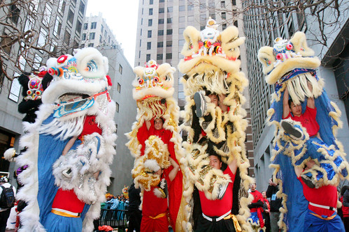 Chinese Lion Dance Performance