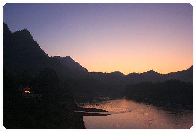 nam ou river sunset