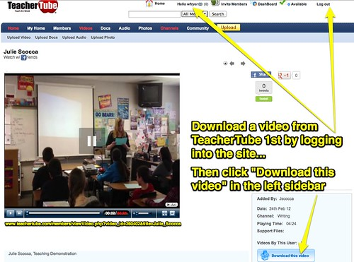 Download a TeacherTube Video