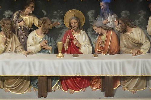 Saint Francis de Sales Oratory, in Saint Louis, Missouri, USA - Detail of Last Supper
