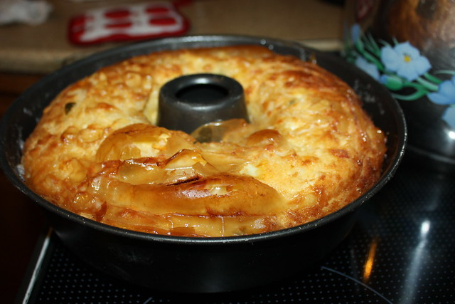 Cheese pie in a cake tin by Mrs. Eleni