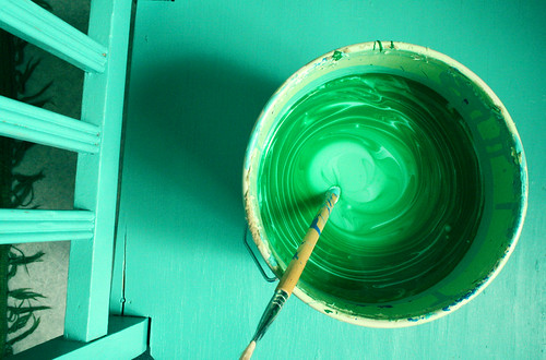 Making of emerald green paint