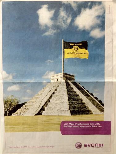 Laut Maya-Prophezeiung geht 2012 die Welt unter. Aber nur in München.