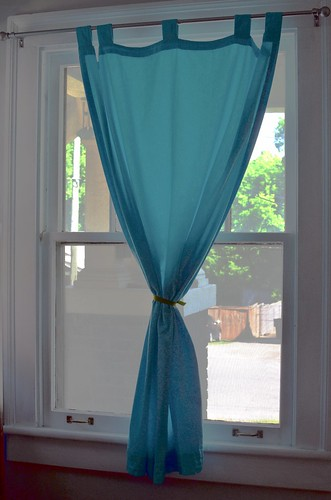 Angel's Nest: Curtains dyed with iDye in Turquoise