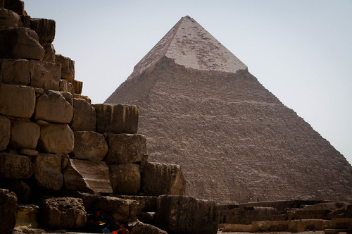 The middle pyramid at Giza
