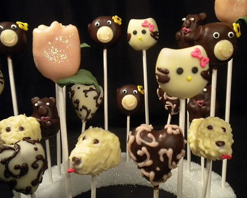 Dog Cake Pops, Monkey Cake Pops, Hello Kitty cake pops