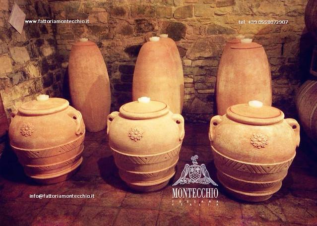 wine aged in terracotta amphorae, Fattoria Montecchio FattoriaMontecchio.it