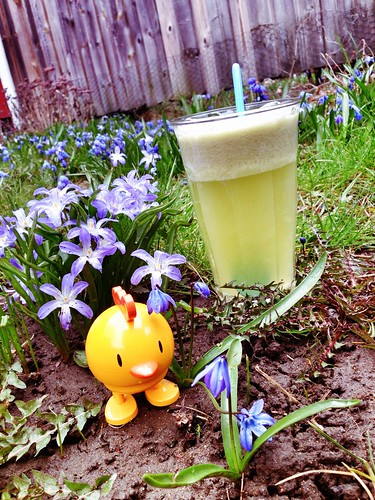 green juice and easter hoptimist