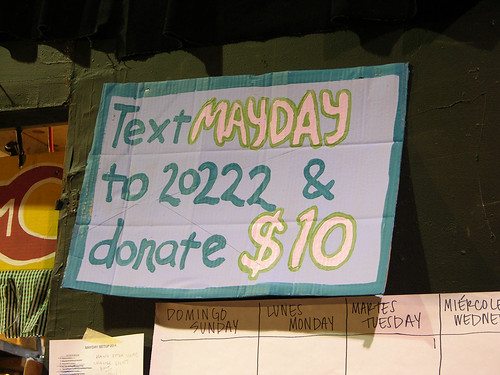 MayDay 2014 text to donate