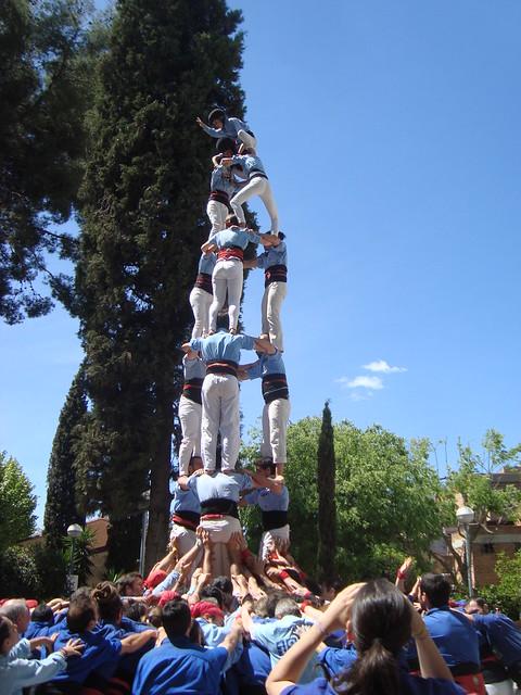 Castellers d'Esplugues. Actuació de Sant Jordi