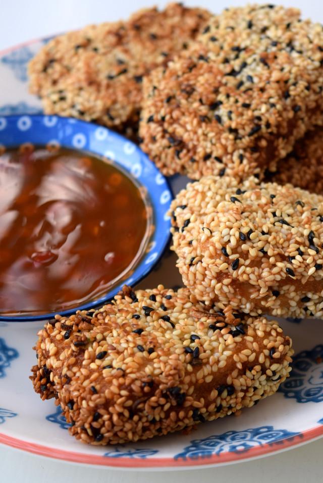 Homemade Sesame Prawn Toasts | www.rachelphipps.com @rachelphipps
