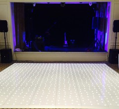 White LED Starlit Dance Floor at the Dunkenhalgh Hotel