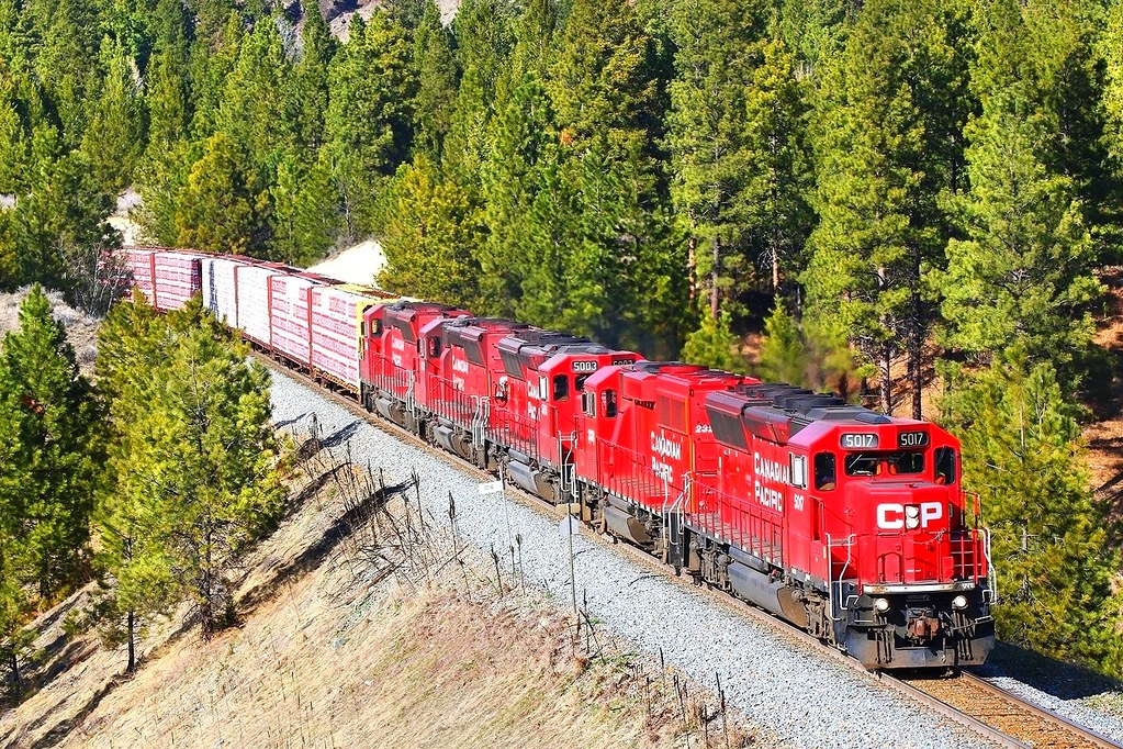 CP 5017 2320 5003 50018 5015 on V19 East of Cranbrook 90mm on Friday 01-04-2016 by Charlie Harris