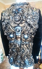. Wearable  fine art artist, smoking jacket back