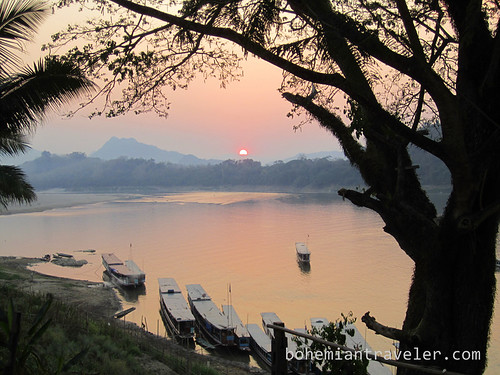 Mekong Sunset and slow boats