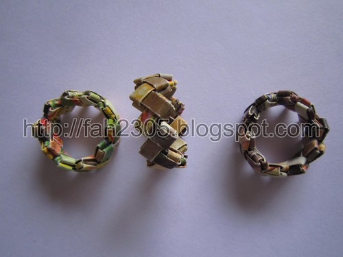 Paper Jewelry - Handmade Candywrap Rings 3 by fah2305