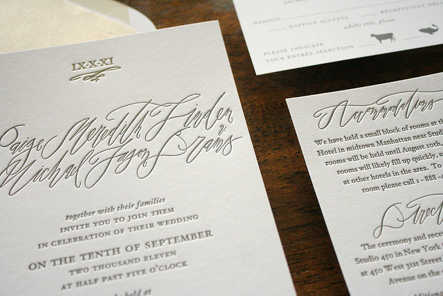 Modern New York City Calligraphy Invitations Flickr