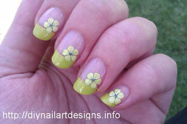 Easy DIY Nail Art Designs: Lime Green French Tip with ...