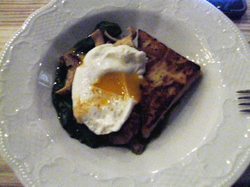 chick pea panisse and egg