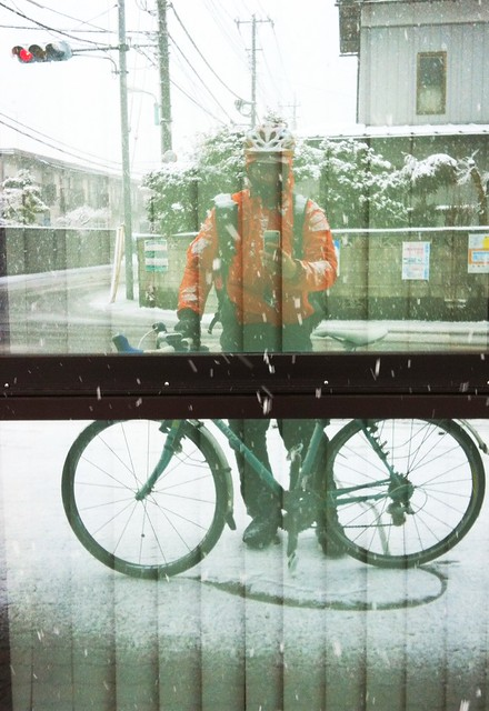 今日の雪ライド全身の写真