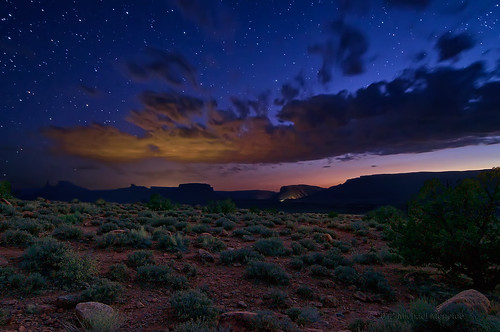 sunset sky nature composite stars landscape star ut nikon glow desert astrophotography moab astronomy bluehour starry lightpollution blending d300 specland 2012a