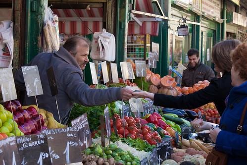 Naschmarkt Vegetable Stand